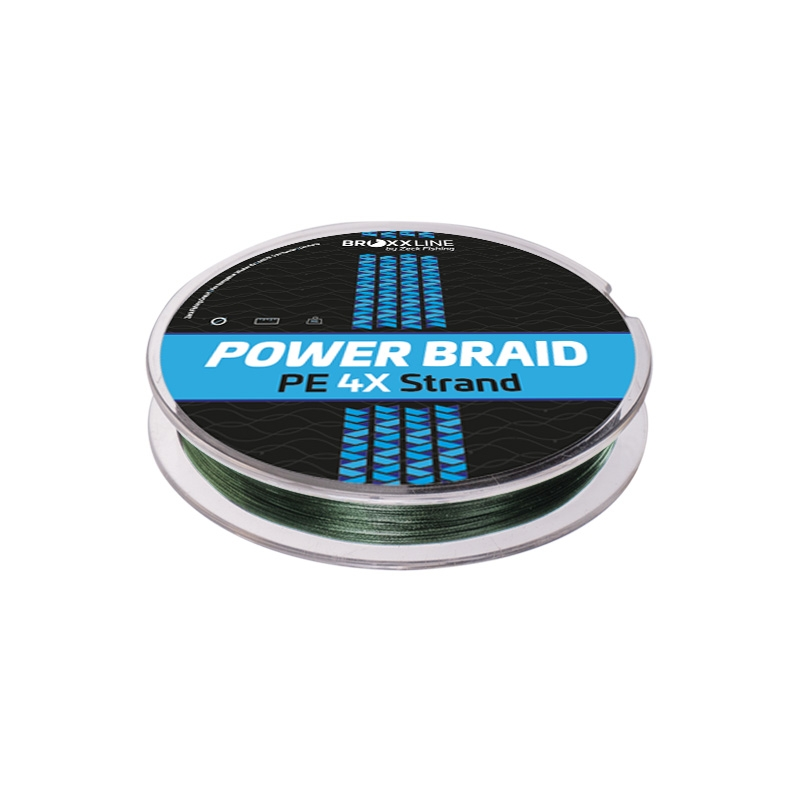Broxxline Power Braid 4X 0,10 mm | Moosgrün | 150 m