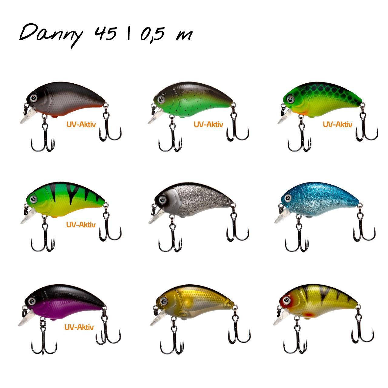 Zeck Danny 4,5cm F 0,5m Blue Ice Wobbler