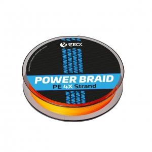 Powerbraid 4X 0,14 mm   Orange   150 m