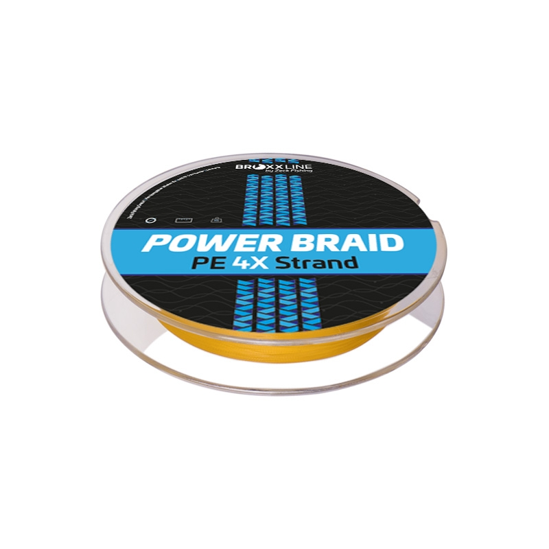 Broxxline Power Braid 4X 0,10 mm | Gelb | 150 m